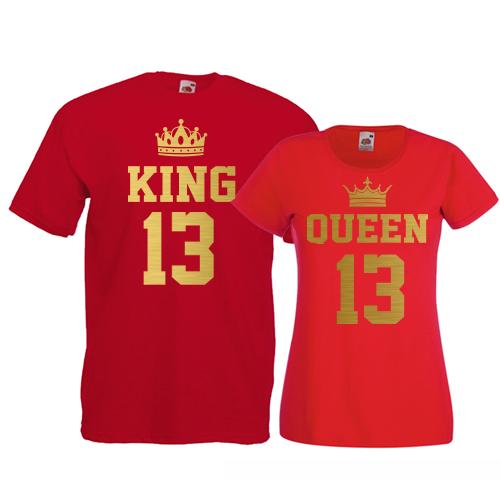 Tricouri pentru cuplu King - Queen numere