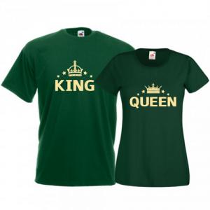 Tricouri pentru cuplu King - Queen Stars