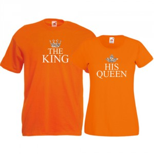 Tricouri pentru cuplu The King - His Queen
