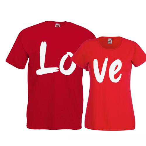 Tricouri pentru cuplu Love