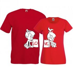 Tricouri pentru cuplu Love - Flintstone