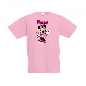 Tricou cu Minnie si prenumele fetitei