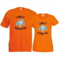 Tricouri pentru cuplu Pisicuta si Motanelul