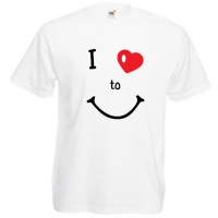 Tricou I love to smile