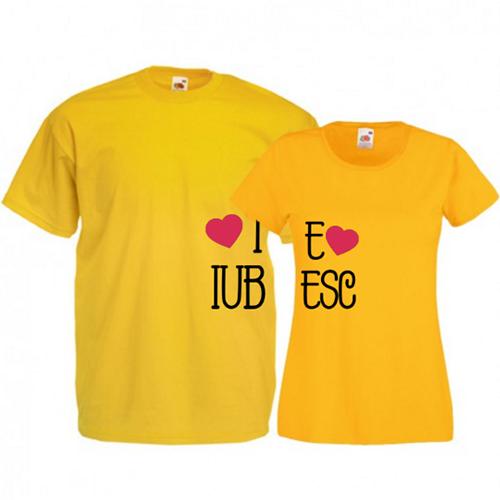 Tricouri pentru cuplu Te iubesc