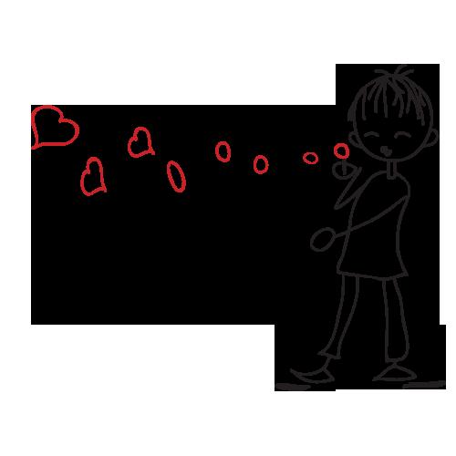 Cana Baloane in forma de inima (pentru el)