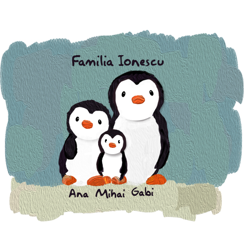 Cana Familie de pinguini (3)