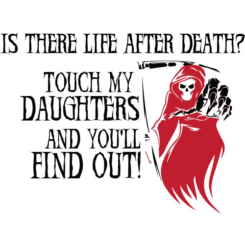 Tricou Touch my daughters