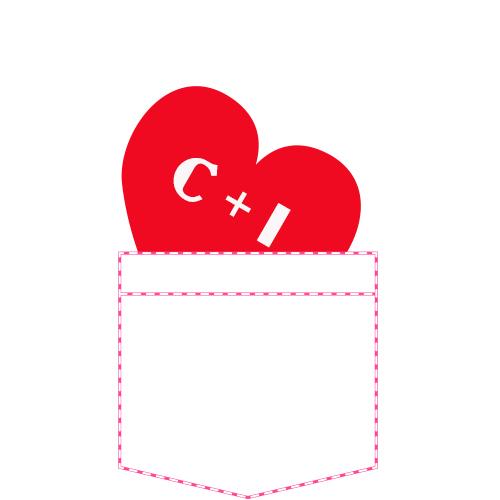 Tricou Inima in buzunar (cu initialele voastre)