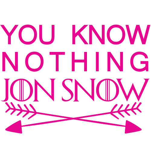 Tricou You know nothing Jon Snow