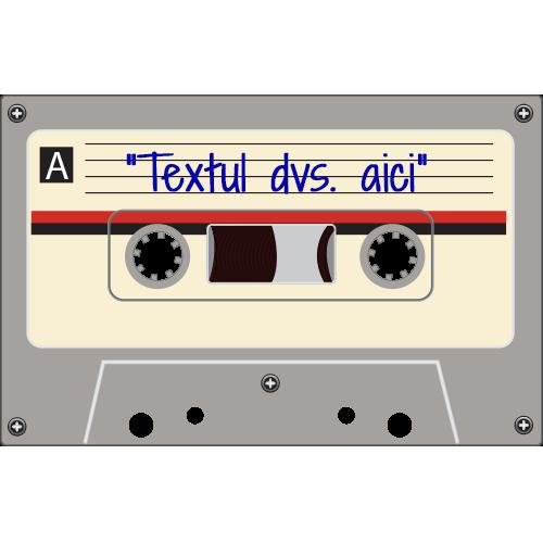 Caseta audio retro